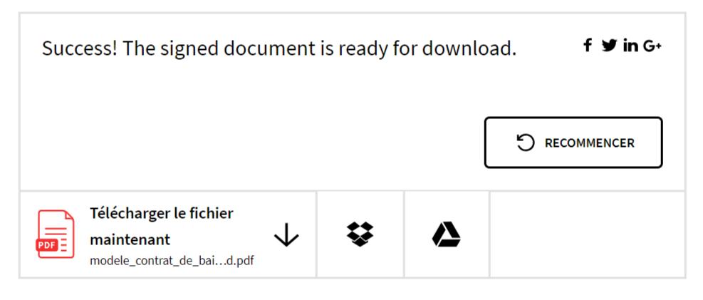 télécharger le document signé