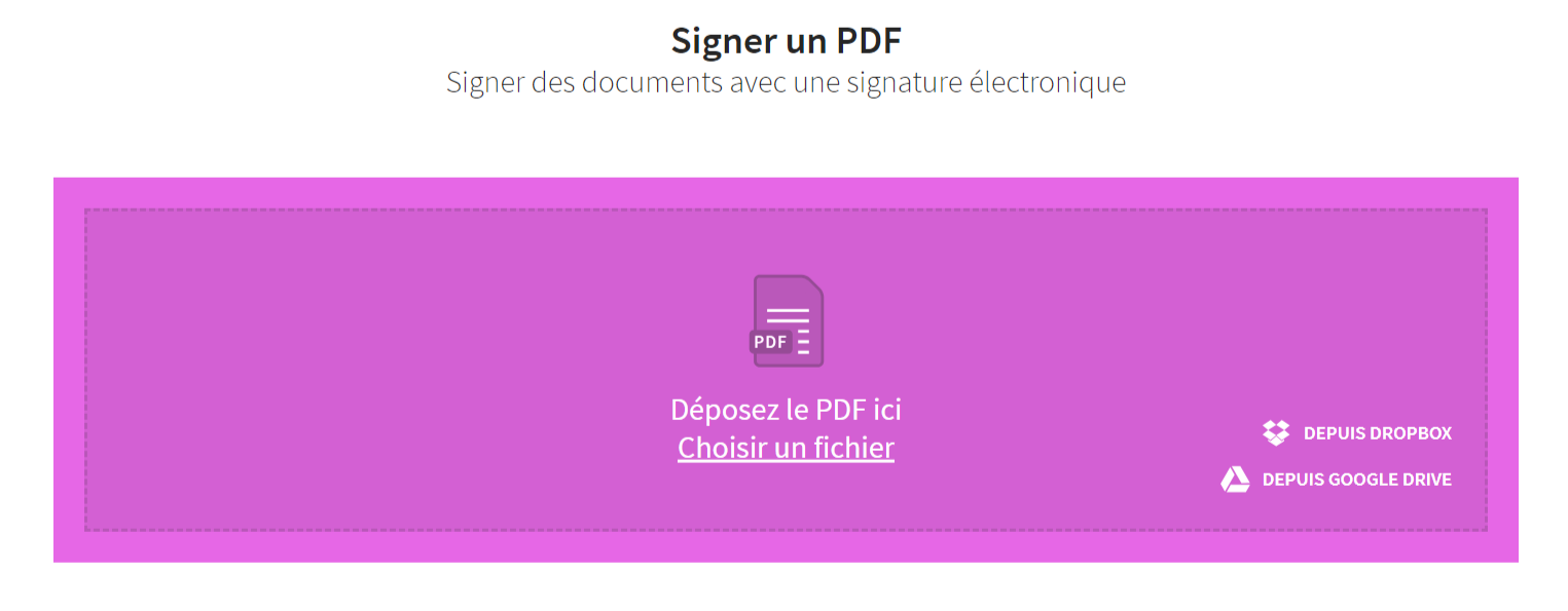 interface small pdf signature électronique