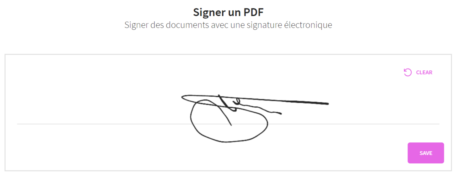 signature électronique small pdf