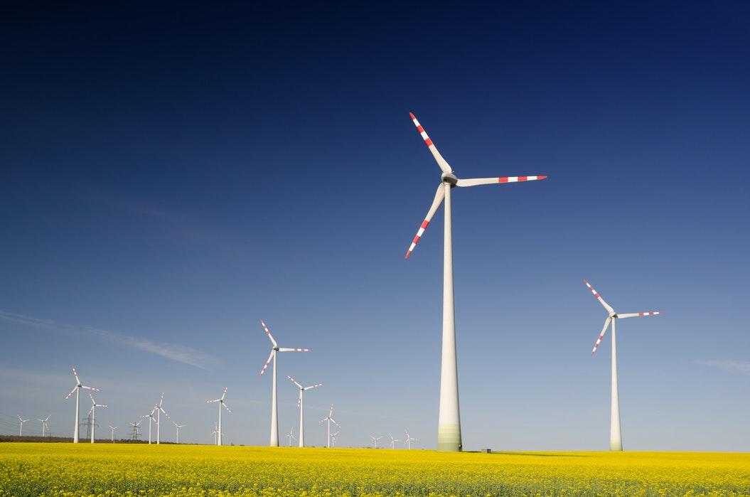 parc d'éoliennes en marche