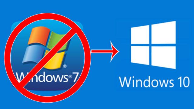 logos de Windows 7 et Windows 10