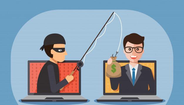 hacker qui prend de l'argent à un internaute