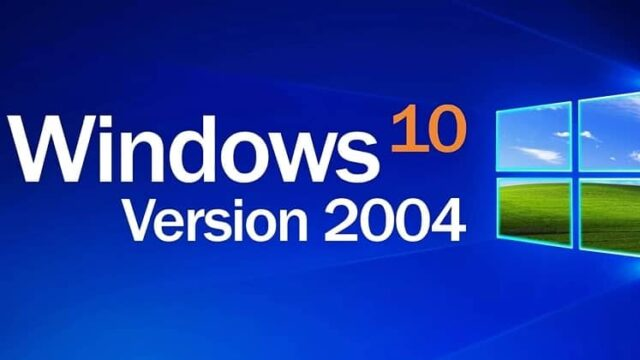 Windows 10 version 2004 écran d'accueil sur PC