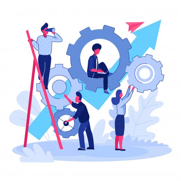 équipe qui travaille sur un projet