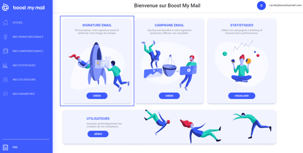 boost my mail interface