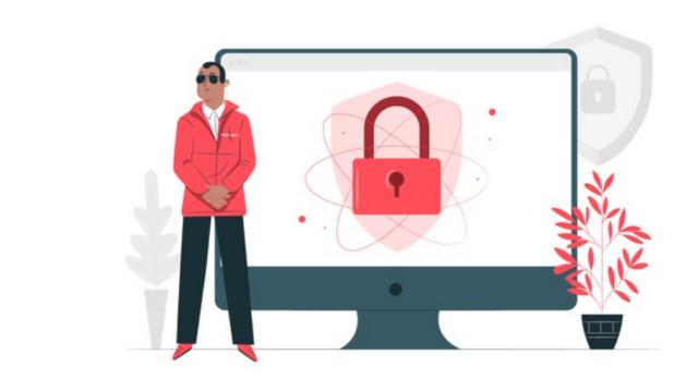 illustration cybersécurité informatique