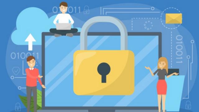 cadenas devant un ordinateur illustrant la sécurité informatique